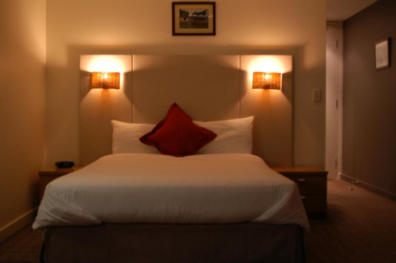 Bedding configuration is 1 Queen Bed. Room contains LCD televisions and Dvd play - Golden Pebble